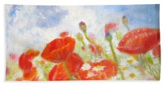 Summer Flowers Hand Towel