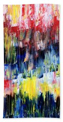 Hand Towel featuring the painting Summer Haze by Rebecca Davis