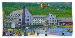 Hand Towel featuring the digital art Summer In Waterville Valley by Nancy Griswold