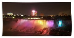 Summer Night In Niagara Falls Hand Towel by Lingfai Leung