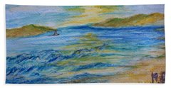 Bath Towel featuring the painting Summer/ North Wales  by Teresa White