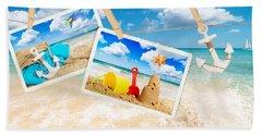 Summer Postcards Hand Towel