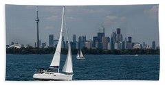 Summer Sailing Postcard From Toronto Hand Towel