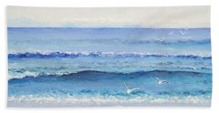 Summer Seascape Hand Towel
