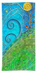 Summer Solstice Bath Towel by Shawna Rowe