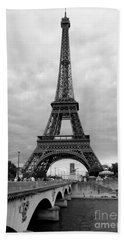 Summer Storm Over The Eiffel Tower Bath Towel