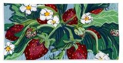 Summer Strawberries Bath Towel