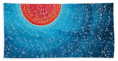Summer Sun Original Painting Bath Towel
