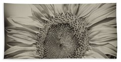 Bath Towel featuring the photograph Summer Sunflower by Wilma  Birdwell