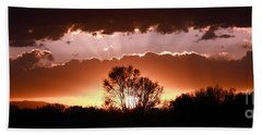 Summer Sunset Hand Towel by Steven Reed