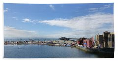 Summers End Capitola Beach Hand Towel by Amelia Racca