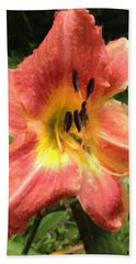 Sun Day Lilly  Hand Towel