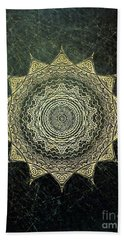 Sun Mandala - Background Variation Bath Towel by Klara Acel