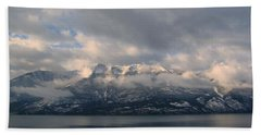 Sun On The Mountains Bath Towel by Leone Lund