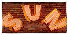 Sun Studio Neon Hand Towel by Stephen Stookey