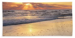 Sunbeams On The Beach Hand Towel by Roupen  Baker