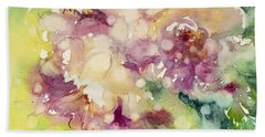 Sundappled Rose Hand Towel by Judith Levins