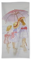 Sunday Best At The Beach Hand Towel