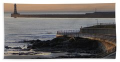 Sunderland Sunrise Hand Towel by Julia Wilcox