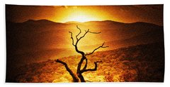 Sundown In The Mountains Hand Towel