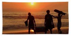 Ocean - Sundown Sunset Bath Towel