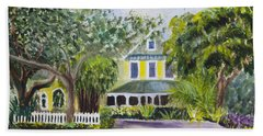 Sundy House In Delray Beach Bath Towel by Donna Walsh