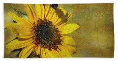 Sunflower And Bumble Bee Hand Towel