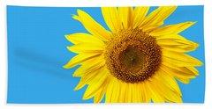 Sunflower Blue Sky Bath Towel