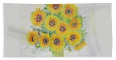 Sunflower Bouquet Hand Towel