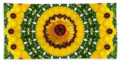 Hand Towel featuring the photograph Sunflower Centerpiece by Joseph J Stevens