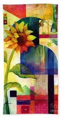 Sunflower Collage Bath Towel