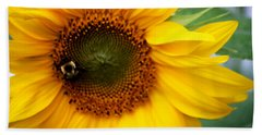 Sunflower Bath Towel by Donna Walsh