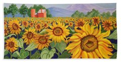Sunflower Farm Bath Towel