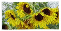 Sunflower Morn II Hand Towel