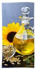 Sunflower Oil Bottle Hand Towel