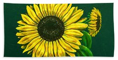 Sunflower Bath Towel by Ron Haist