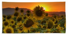 Sunflower Sun Rays Bath Towel