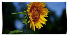 Sunflower With Honeybee Bath Towel