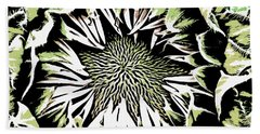 Hand Towel featuring the digital art Sunflower1 by Dragica  Micki Fortuna