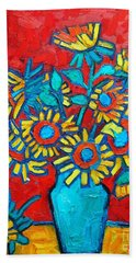 Sunflowers Bouquet Hand Towel