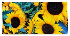 Sunflowers Bath Towel by Colleen Kammerer