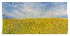 Sunflowers  Field In Texas Bath Towel