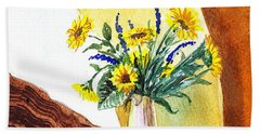 Sunflowers In A Pitcher Bath Towel