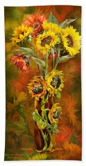 Sunflowers In Sunflower Vase Bath Towel