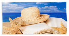 Sunhat In Sand Bath Towel