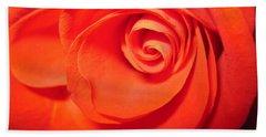 Sunkissed Orange Rose 9 Bath Towel