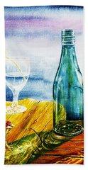 Sunlit Bottles Hand Towel