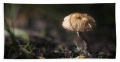 Sunlit Mushroom Hand Towel