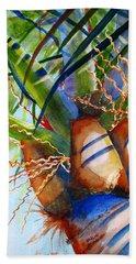 Sunlit Palm Bath Towel by Carlin Blahnik