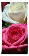 Sunlit Roses Bath Towel by Marie Hicks
